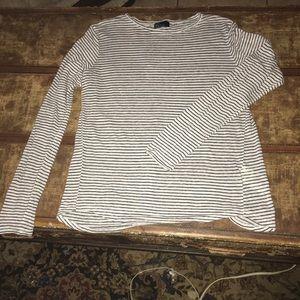 GAP Striped Long Sleeve Shirt - Sz Sm